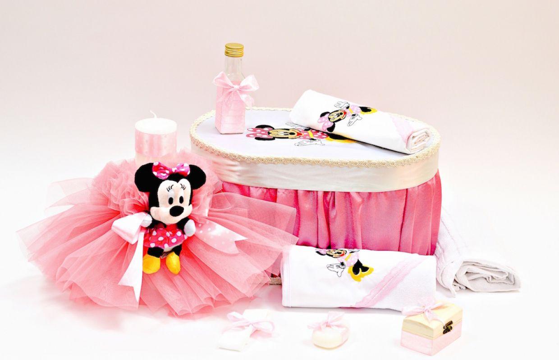 Set Botez Roz Cu Buline Minnie Mouse Amo 000 770 Selfeventsro