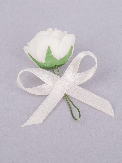 Cocarde trandafir ivory fundita ivory