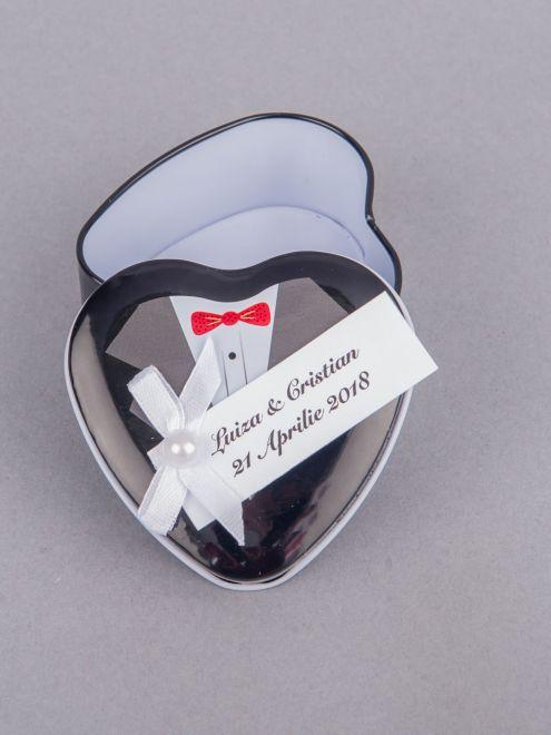 Marturii nunta cutiute metalice mire