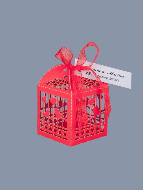 Marturii botez cutiute vrabii si inimi rosii