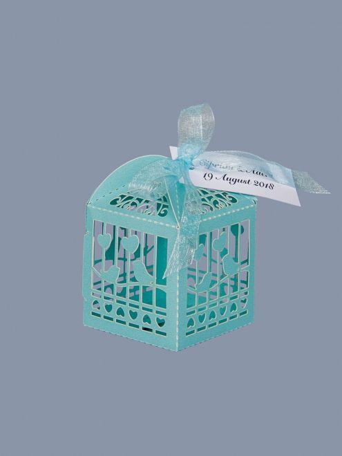 Marturii nunta cutiute vrabii si inimi bleu