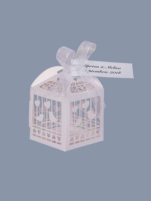 Marturii nunta cutiute vrabii si inimi albe
