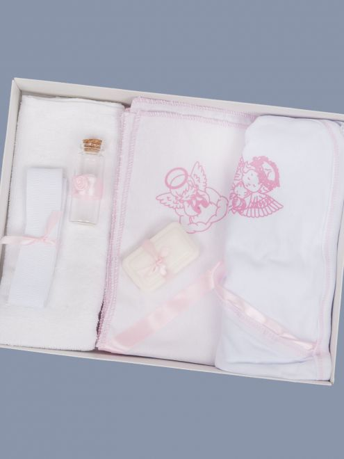 Trusou botez roz cu ingeras