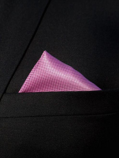 Set lila cravata, batista si butoni camasa