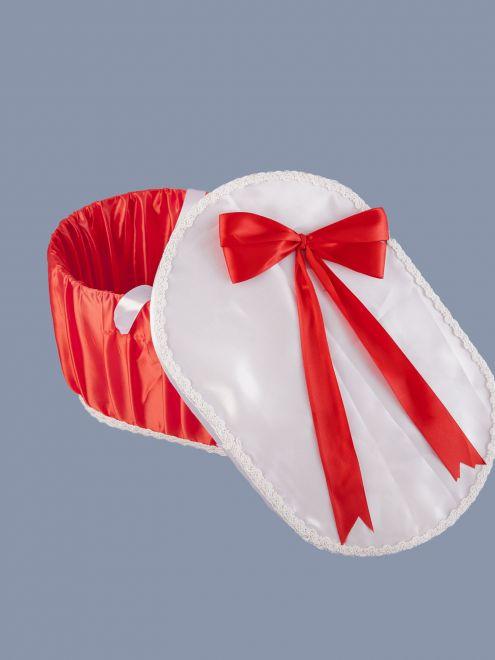 Cutie pentru trusou de botez rosie