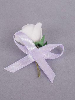Cocarde Trandafir Alb Fundita Lila Amo 000 1054 Selfeventsro